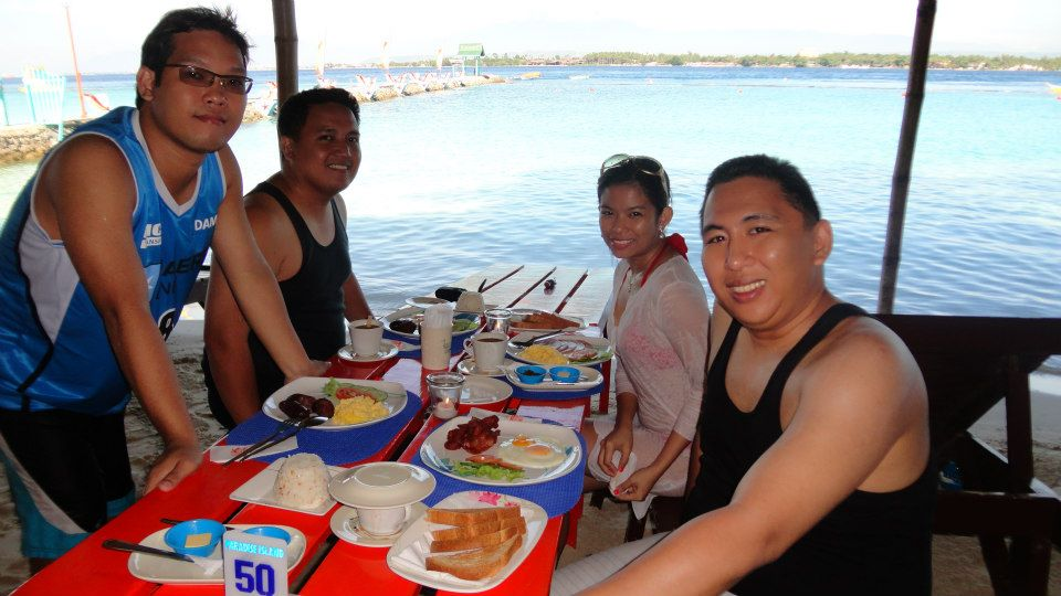 breakfast by the beach Samal island davap Philippines