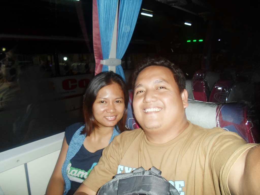 bus bound to Daet and Calaguas