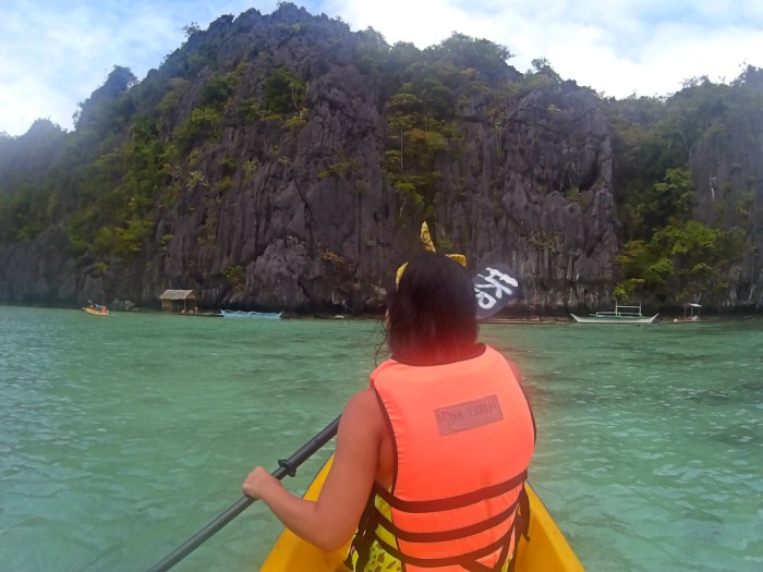 Kayaking at Small Lagoon, El Nido